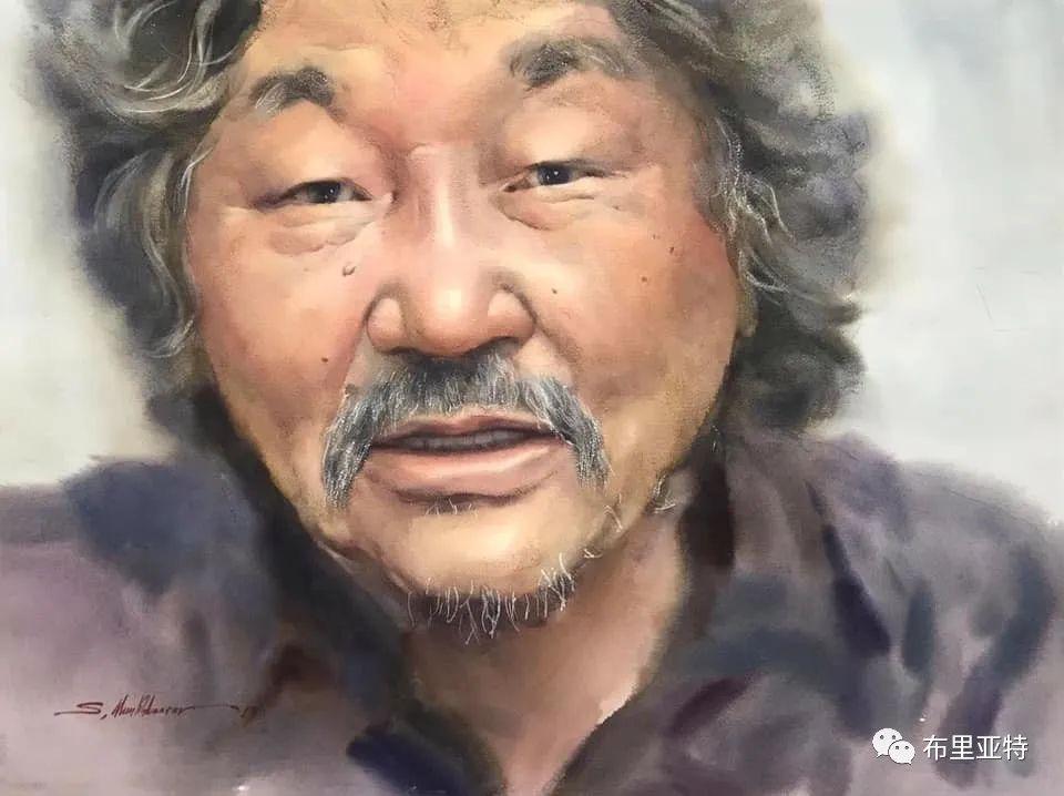 蒙古国少有的水彩画大师孟赫巴特尔作品欣赏 第64张