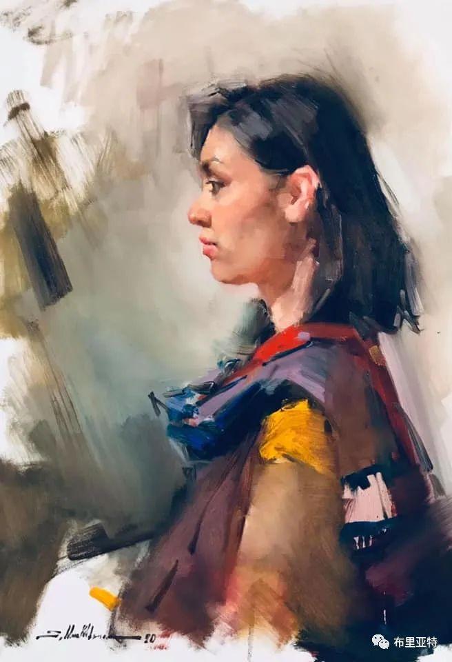 蒙古国少有的水彩画大师孟赫巴特尔作品欣赏 第63张