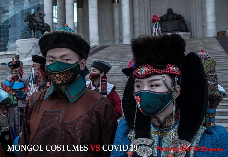 图片:蒙古服装VS新冠病毒 第1张 图片:蒙古服装VS新冠病毒 蒙古服饰