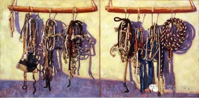 【美图】青年画家柯西格巴图油画作品分享 第5张