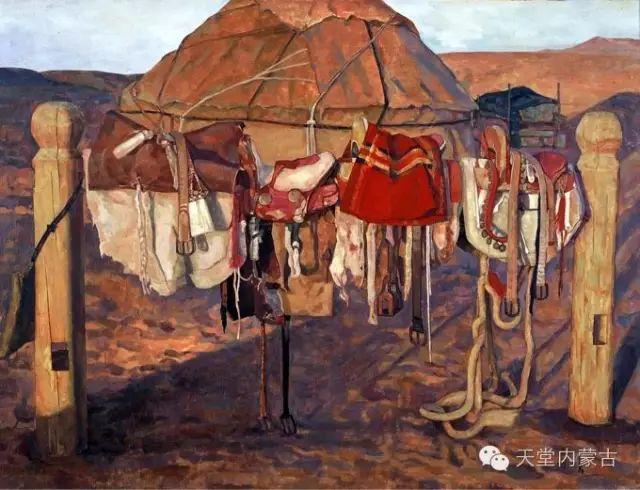【美图】青年画家柯西格巴图油画作品分享 第3张