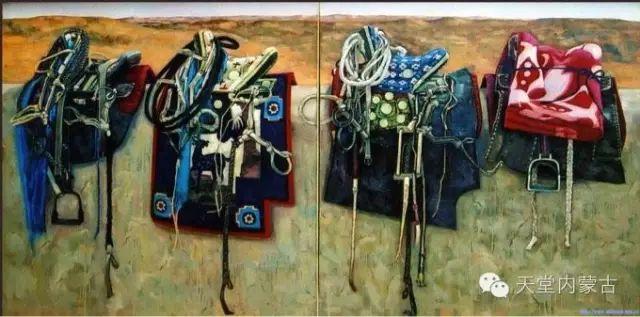 【美图】青年画家柯西格巴图油画作品分享 第4张