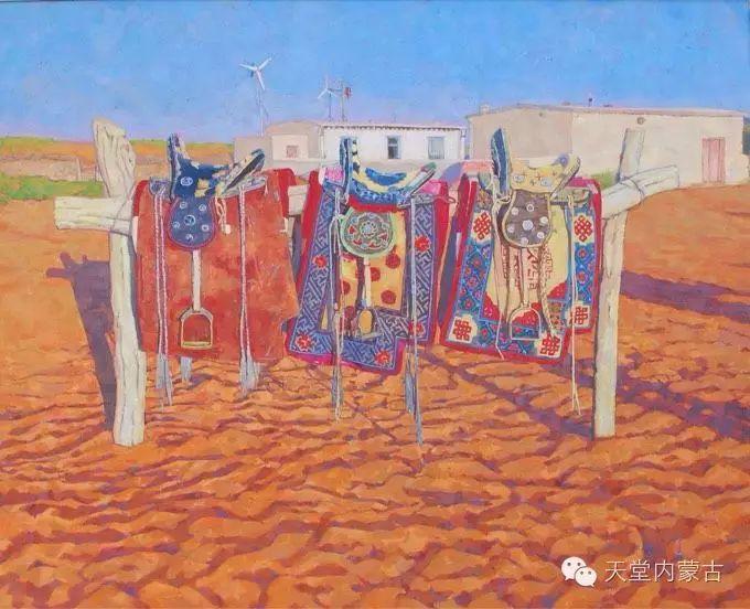 【美图】青年画家柯西格巴图油画作品分享 第14张
