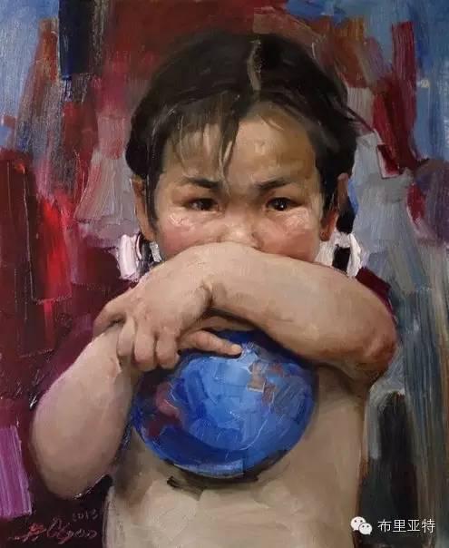 青年蒙古画家敖特格·巴达玛油画作品分享 第3张 青年蒙古画家敖特格·巴达玛油画作品分享 蒙古画廊