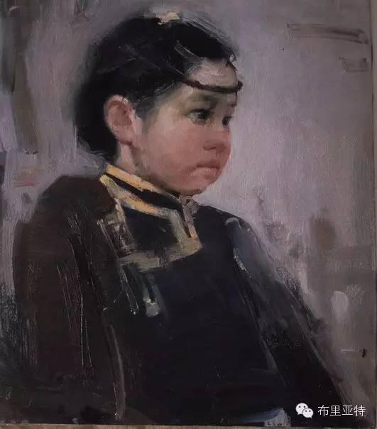 青年蒙古画家敖特格·巴达玛油画作品分享 第1张 青年蒙古画家敖特格·巴达玛油画作品分享 蒙古画廊