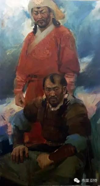 青年蒙古画家敖特格·巴达玛油画作品分享 第10张 青年蒙古画家敖特格·巴达玛油画作品分享 蒙古画廊