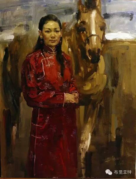 青年蒙古画家敖特格·巴达玛油画作品分享 第7张 青年蒙古画家敖特格·巴达玛油画作品分享 蒙古画廊