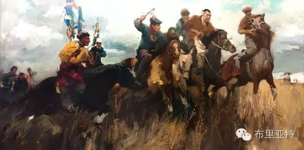 青年蒙古画家敖特格·巴达玛油画作品分享 第14张 青年蒙古画家敖特格·巴达玛油画作品分享 蒙古画廊