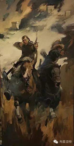 青年蒙古画家敖特格·巴达玛油画作品分享 第12张 青年蒙古画家敖特格·巴达玛油画作品分享 蒙古画廊