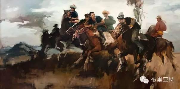 青年蒙古画家敖特格·巴达玛油画作品分享 第15张 青年蒙古画家敖特格·巴达玛油画作品分享 蒙古画廊