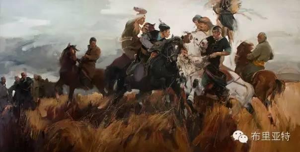青年蒙古画家敖特格·巴达玛油画作品分享 第16张 青年蒙古画家敖特格·巴达玛油画作品分享 蒙古画廊