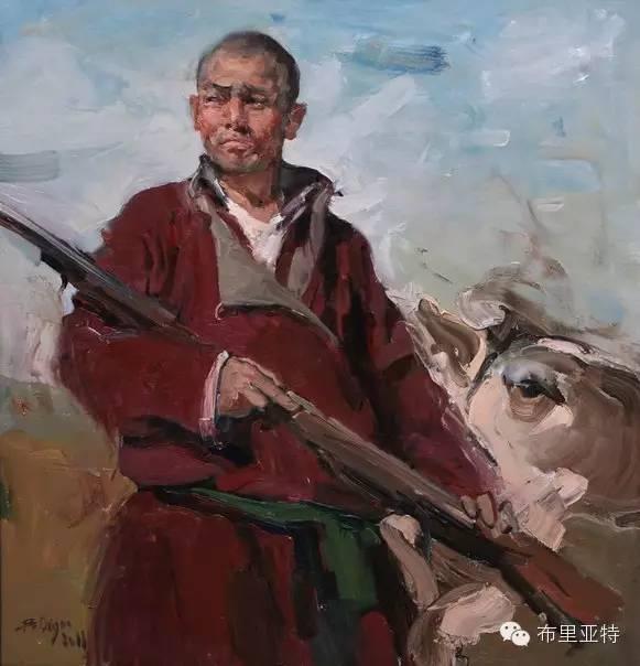 青年蒙古画家敖特格·巴达玛油画作品分享 第11张 青年蒙古画家敖特格·巴达玛油画作品分享 蒙古画廊