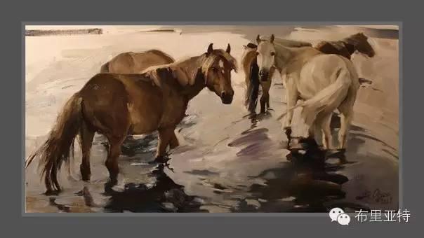 青年蒙古画家敖特格·巴达玛油画作品分享 第17张 青年蒙古画家敖特格·巴达玛油画作品分享 蒙古画廊