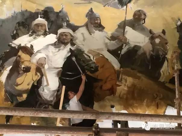 青年蒙古画家敖特格·巴达玛油画作品分享 第20张 青年蒙古画家敖特格·巴达玛油画作品分享 蒙古画廊