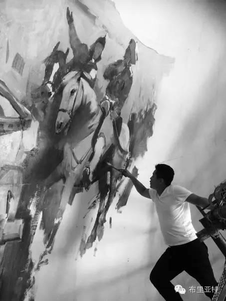 青年蒙古画家敖特格·巴达玛油画作品分享 第19张 青年蒙古画家敖特格·巴达玛油画作品分享 蒙古画廊