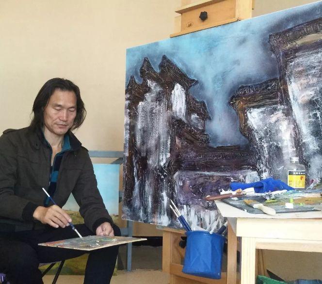 中国当代蒙古族实力派青年画家,雕塑艺术家阿鲁斯 第6张