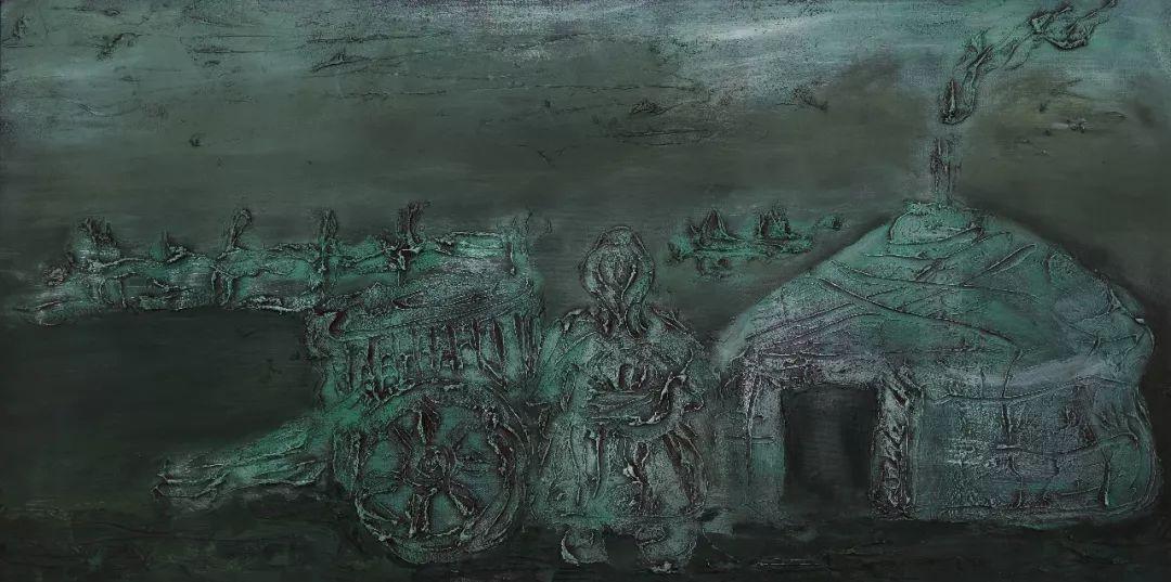 中国当代蒙古族实力派青年画家,雕塑艺术家阿鲁斯 第9张