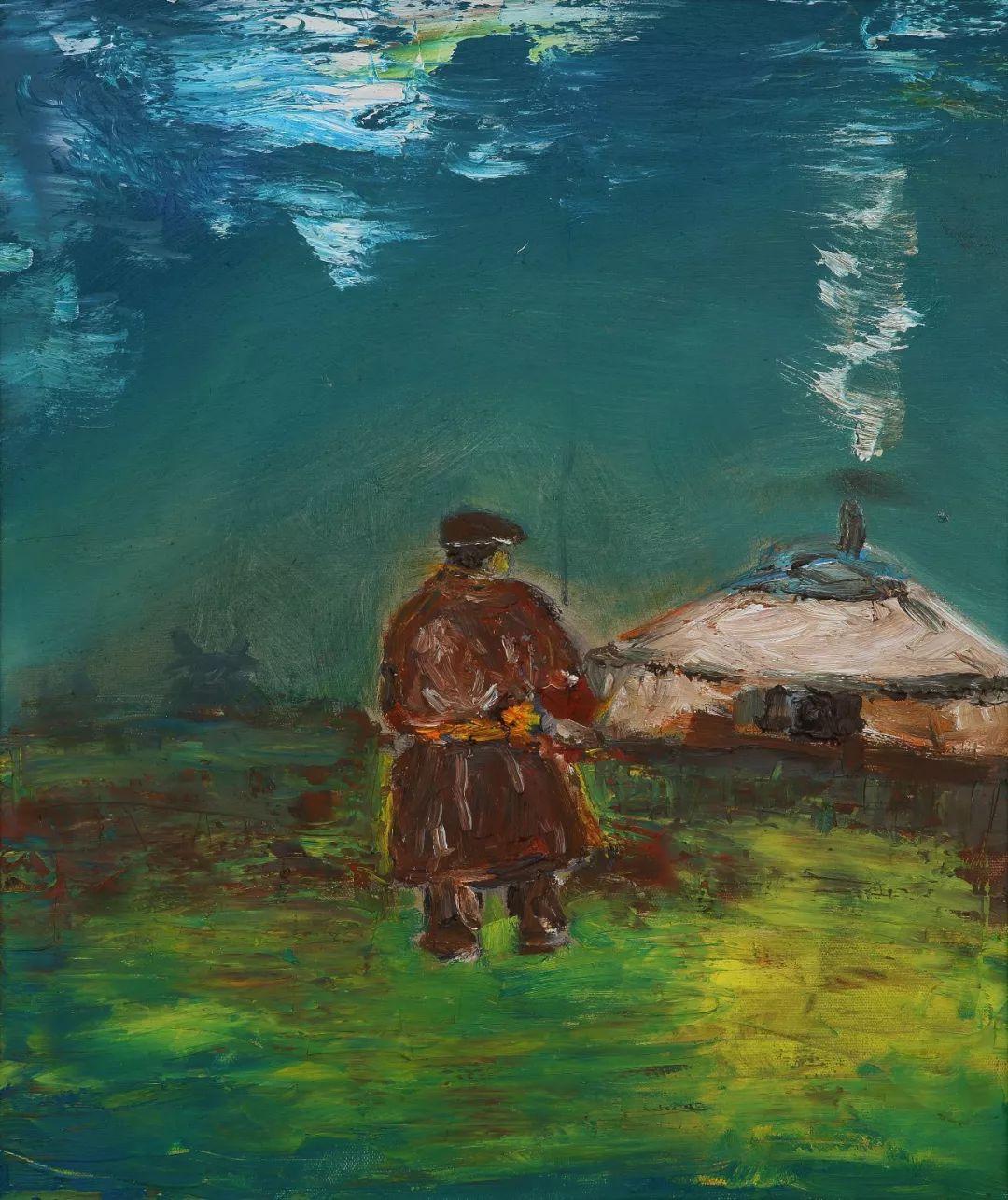 中国当代蒙古族实力派青年画家,雕塑艺术家阿鲁斯 第23张