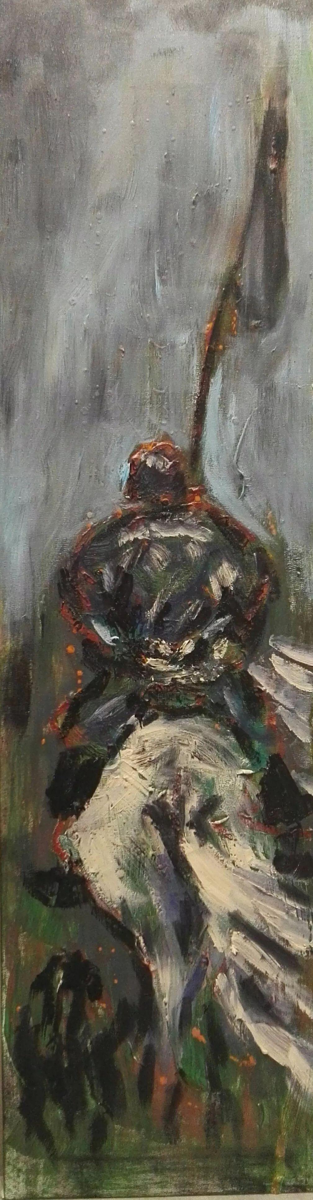 中国当代蒙古族实力派青年画家,雕塑艺术家阿鲁斯 第24张