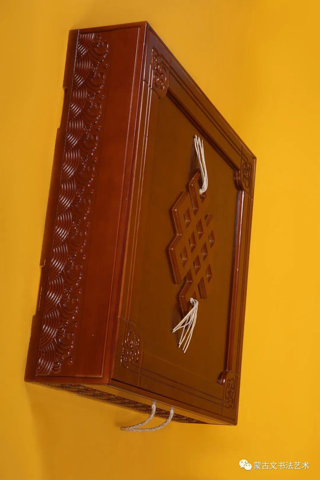 习近平总书记重要讲话摘选蒙古文书法70米长卷作品 第6张