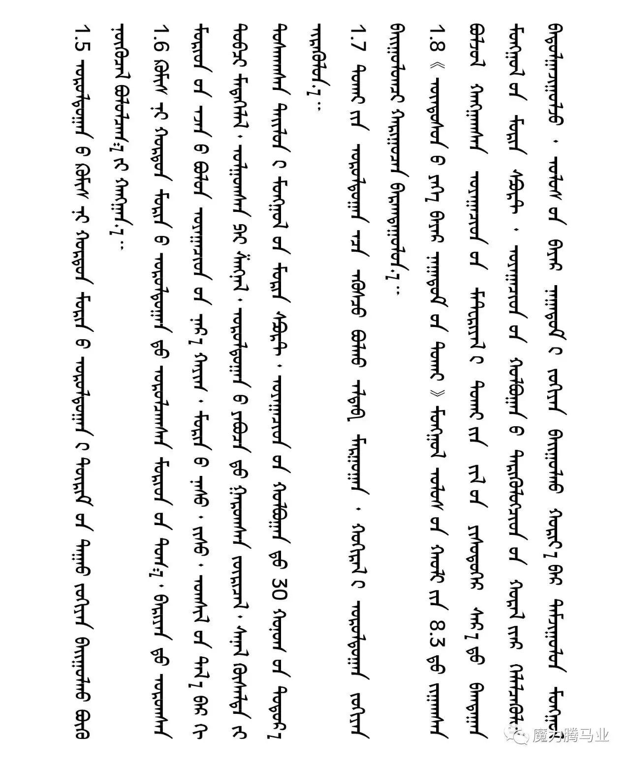 蒙古国赛马章程介绍 第11张 蒙古国赛马章程介绍 蒙古文库