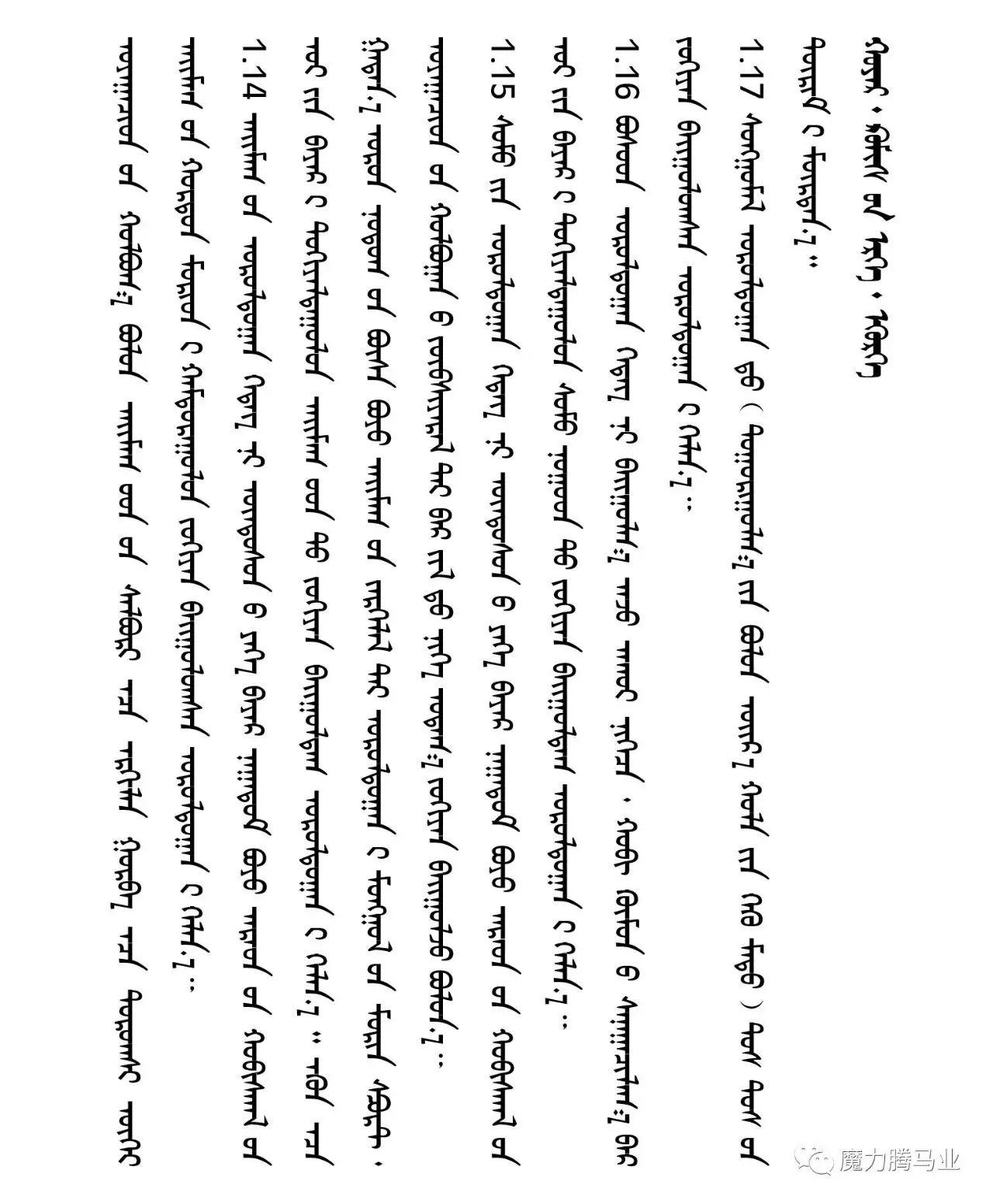 蒙古国赛马章程介绍 第15张 蒙古国赛马章程介绍 蒙古文库