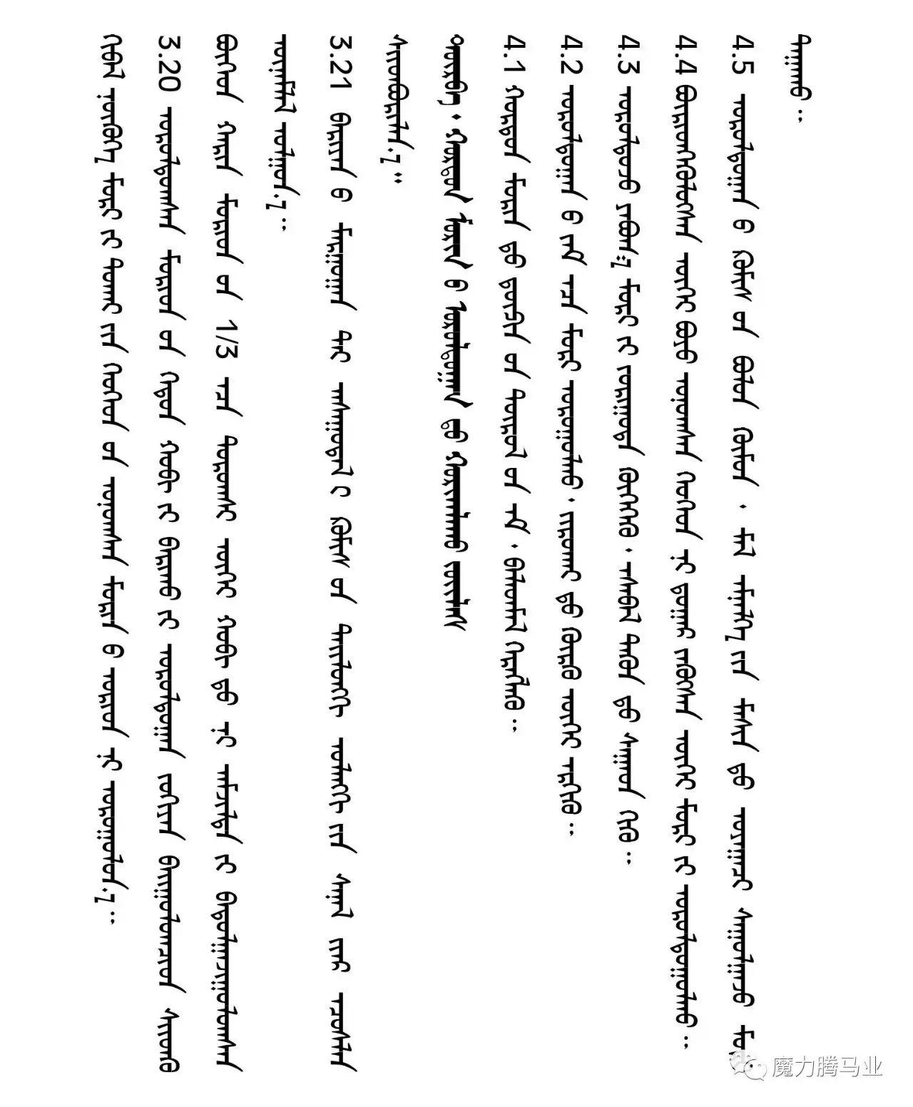 蒙古国赛马章程介绍 第29张 蒙古国赛马章程介绍 蒙古文库