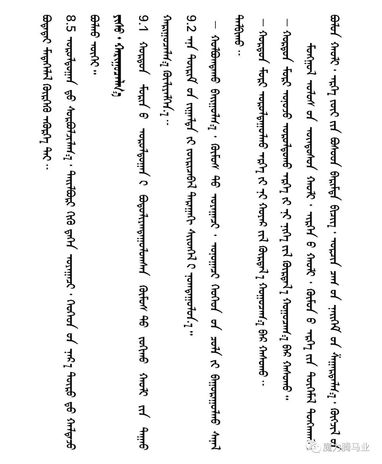 蒙古国赛马章程介绍 第43张 蒙古国赛马章程介绍 蒙古文库