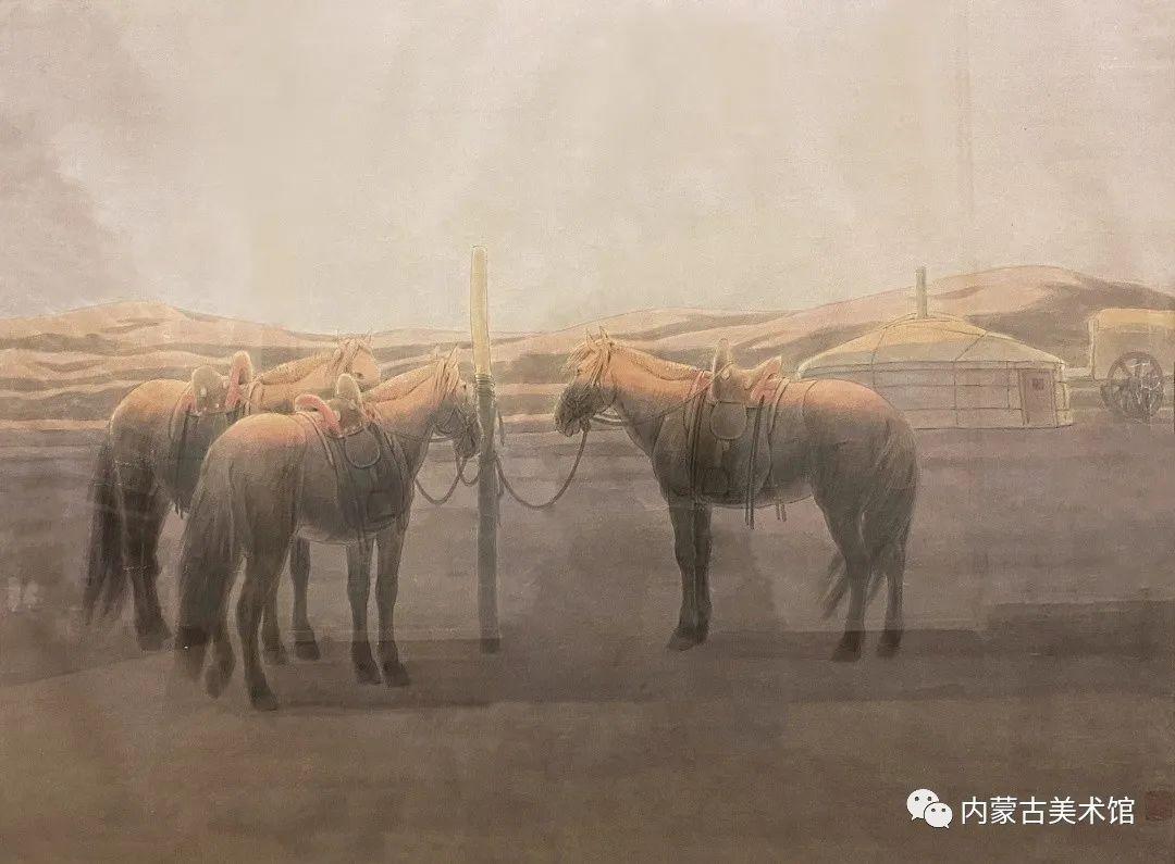 内蒙古美术馆,馆藏来了 第22张 内蒙古美术馆,馆藏来了 蒙古画廊
