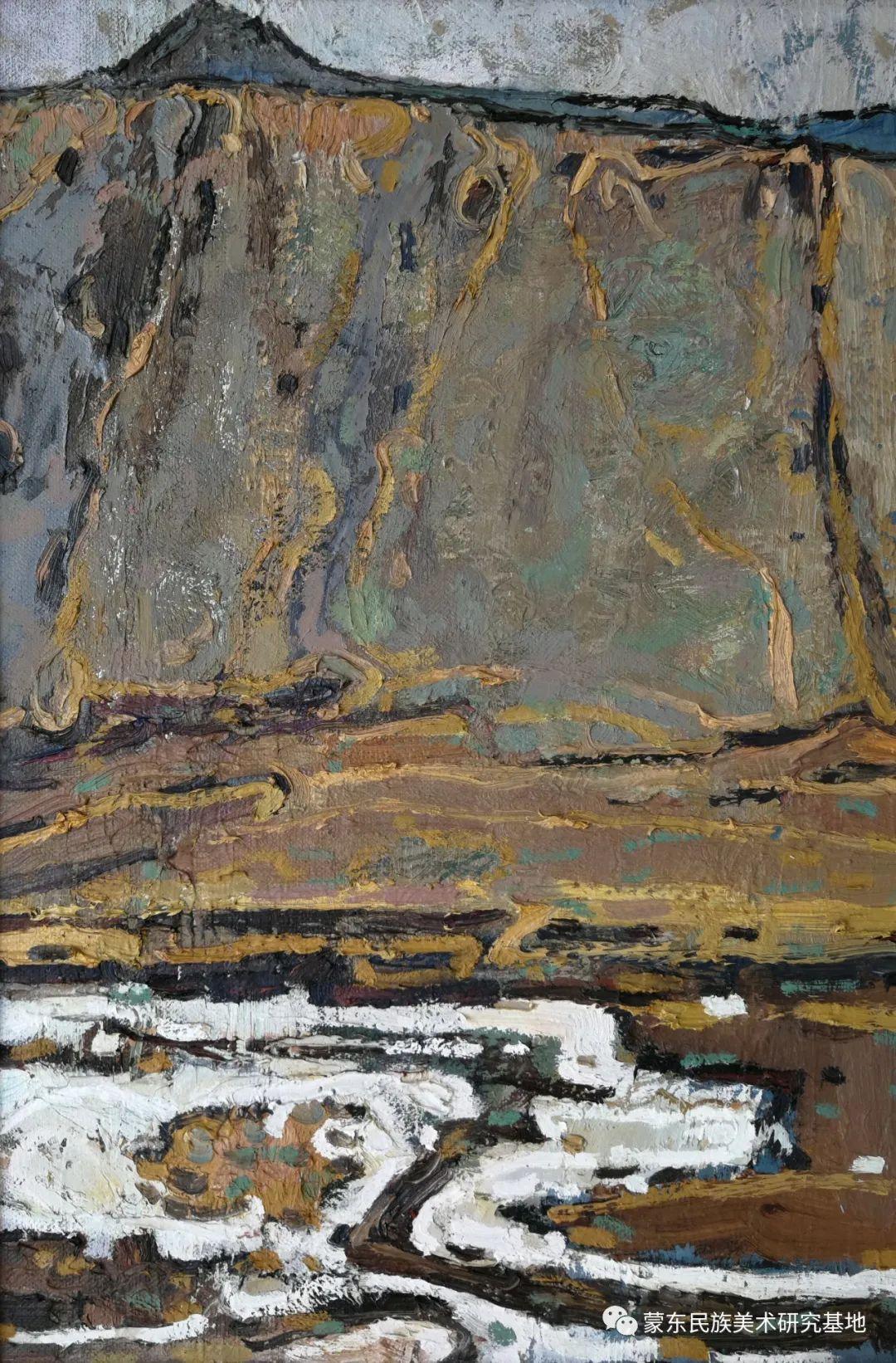 布和朝鲁油画作品——中国少数民族美术促进会,蒙东民族美术研究基地画家系列 第1张