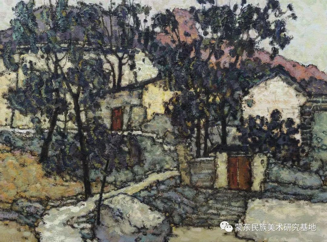 布和朝鲁油画作品——中国少数民族美术促进会,蒙东民族美术研究基地画家系列 第3张