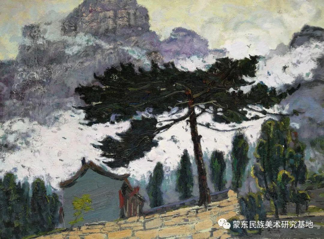 布和朝鲁油画作品——中国少数民族美术促进会,蒙东民族美术研究基地画家系列 第7张