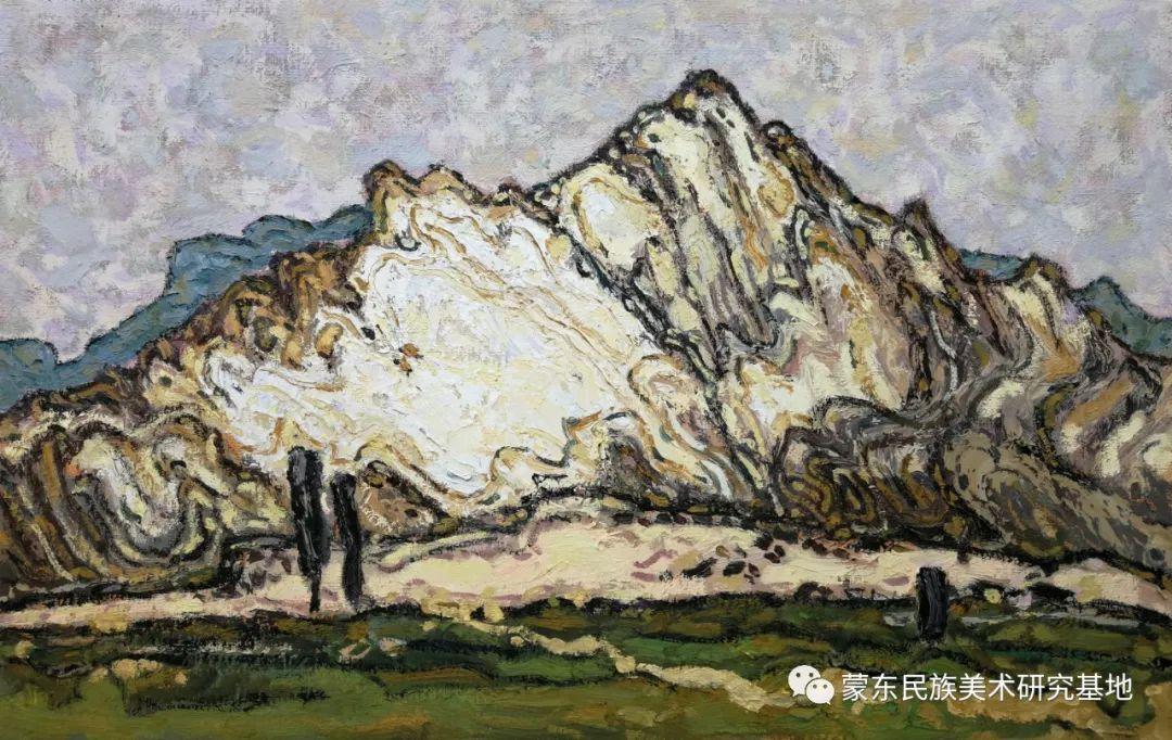 布和朝鲁油画作品——中国少数民族美术促进会,蒙东民族美术研究基地画家系列 第5张