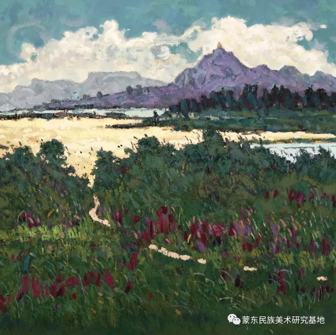 布和朝鲁油画作品——中国少数民族美术促进会,蒙东民族美术研究基地画家系列 第6张