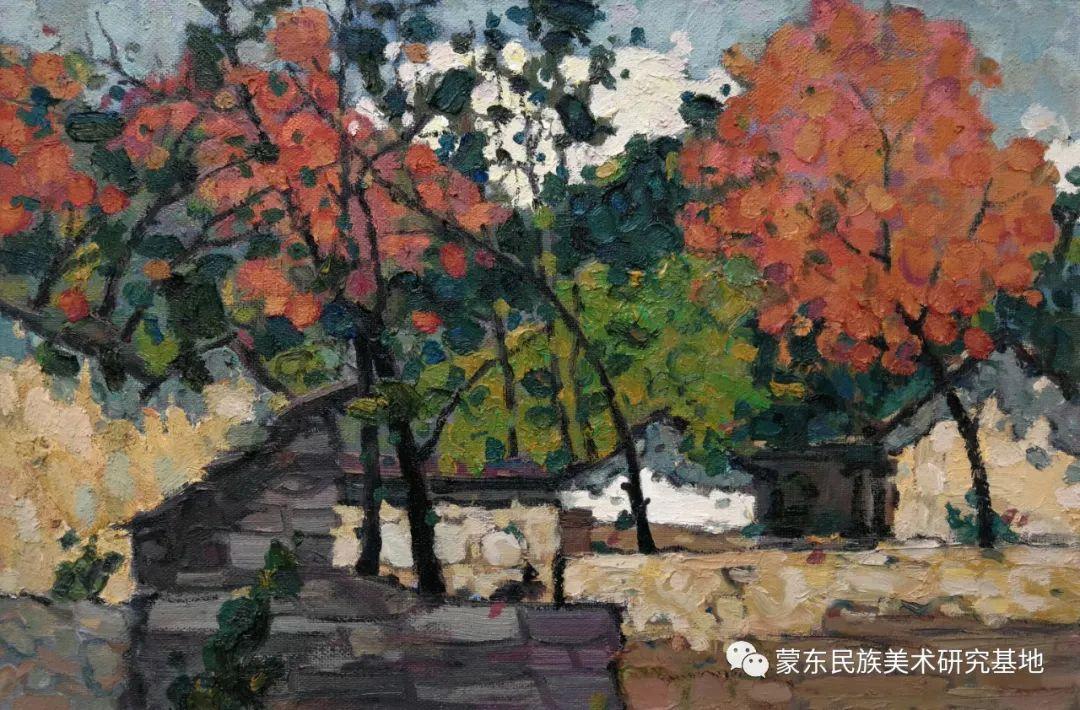 布和朝鲁油画作品——中国少数民族美术促进会,蒙东民族美术研究基地画家系列 第9张