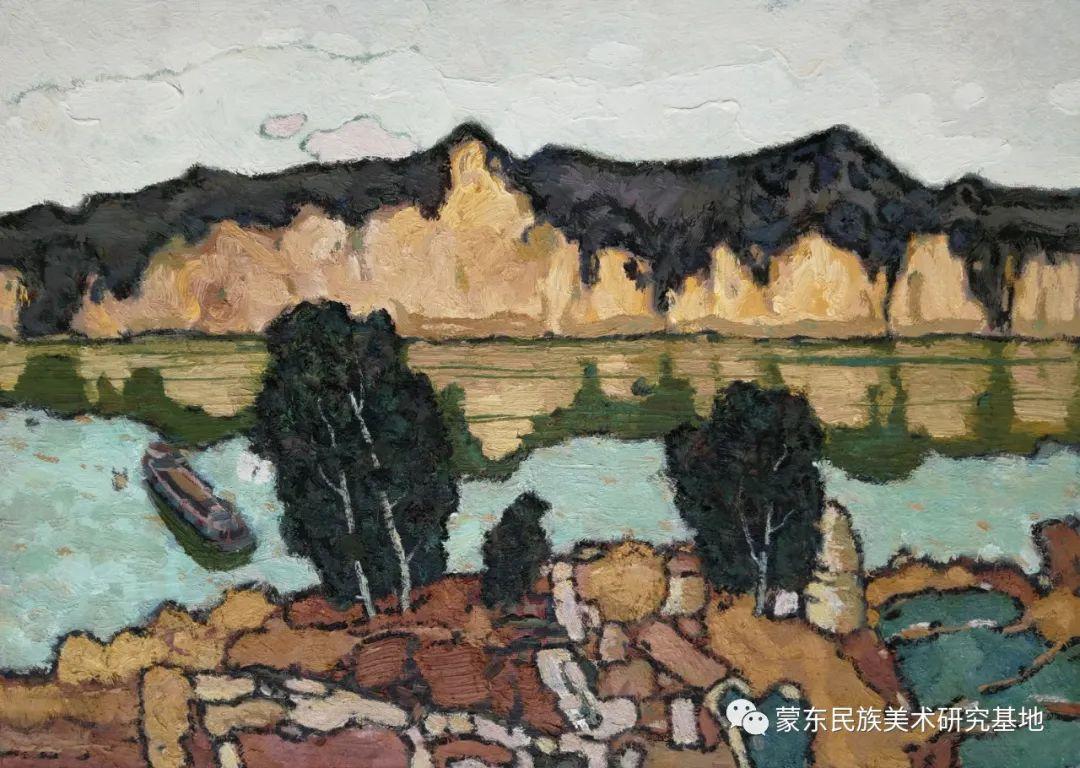 布和朝鲁油画作品——中国少数民族美术促进会,蒙东民族美术研究基地画家系列 第10张