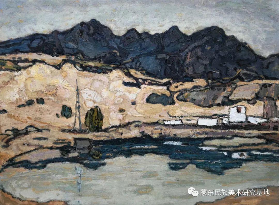 布和朝鲁油画作品——中国少数民族美术促进会,蒙东民族美术研究基地画家系列 第12张