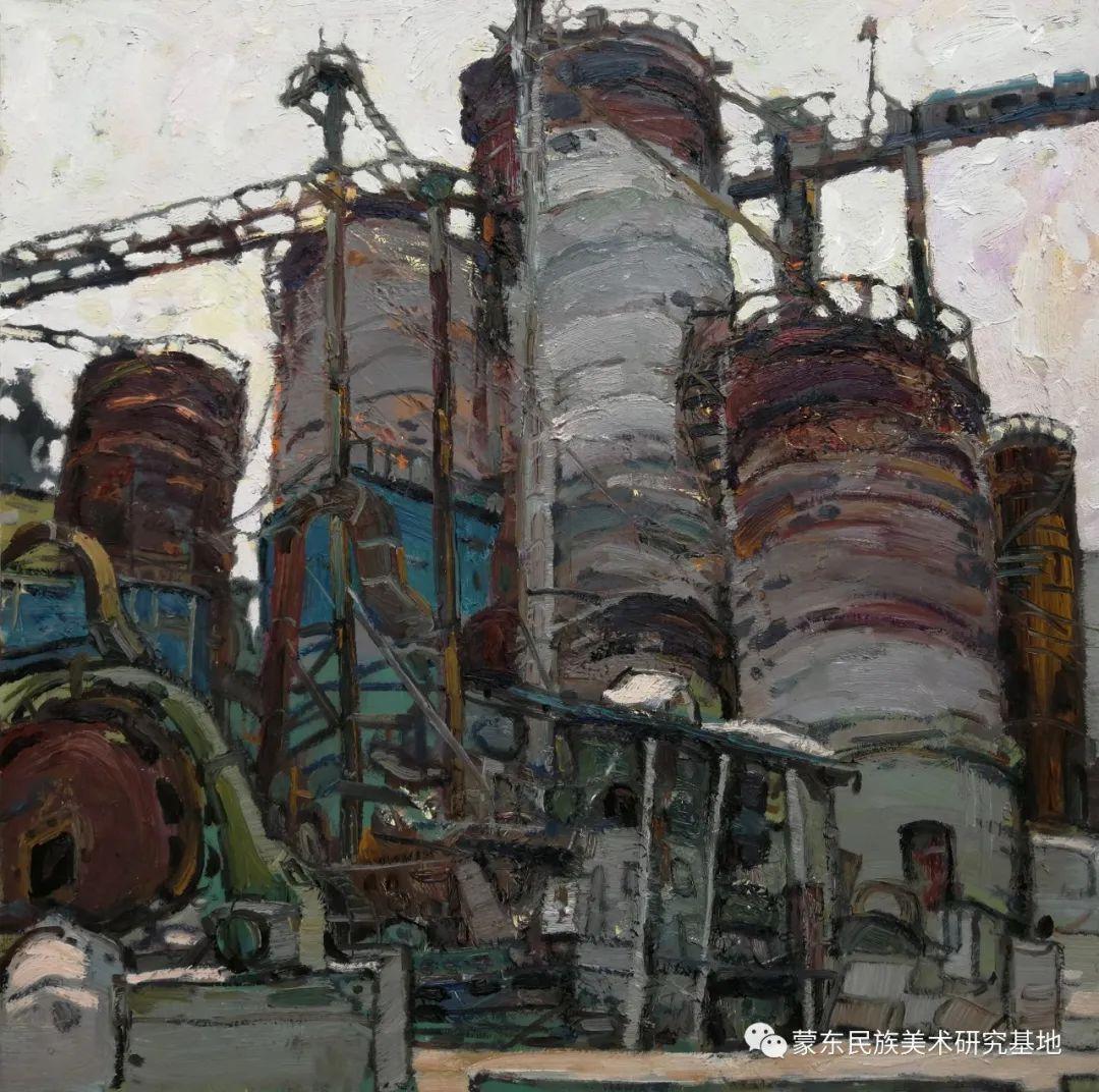 布和朝鲁油画作品——中国少数民族美术促进会,蒙东民族美术研究基地画家系列 第11张