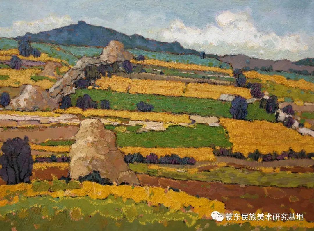 布和朝鲁油画作品——中国少数民族美术促进会,蒙东民族美术研究基地画家系列 第14张
