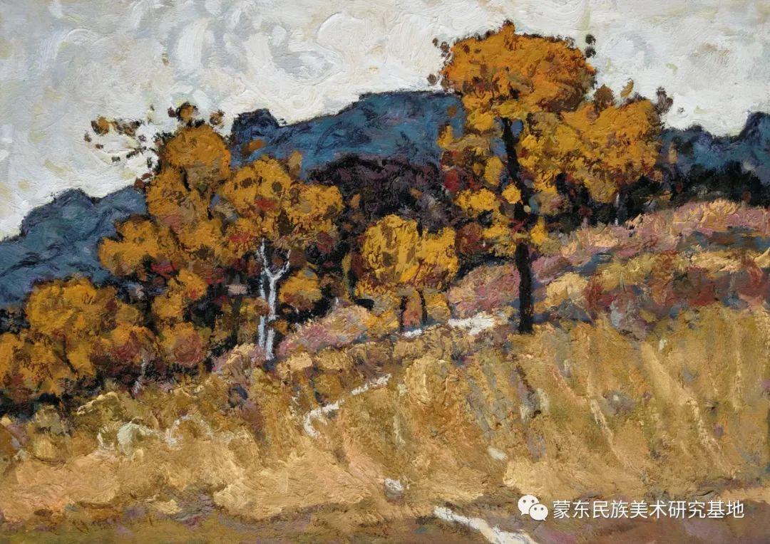 布和朝鲁油画作品——中国少数民族美术促进会,蒙东民族美术研究基地画家系列 第13张
