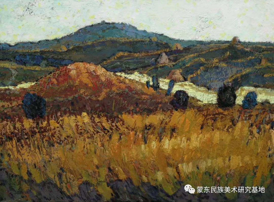 布和朝鲁油画作品——中国少数民族美术促进会,蒙东民族美术研究基地画家系列 第15张
