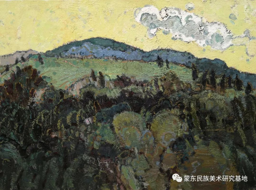 布和朝鲁油画作品——中国少数民族美术促进会,蒙东民族美术研究基地画家系列 第17张