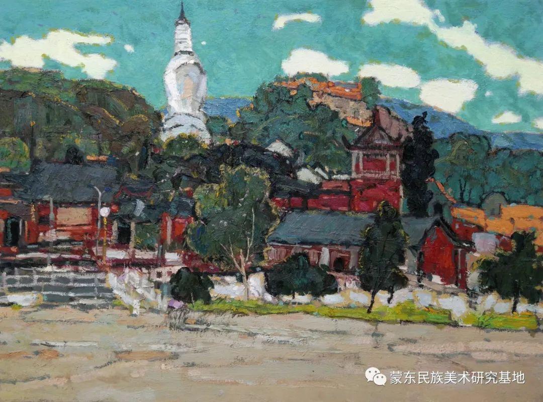 布和朝鲁油画作品——中国少数民族美术促进会,蒙东民族美术研究基地画家系列 第16张