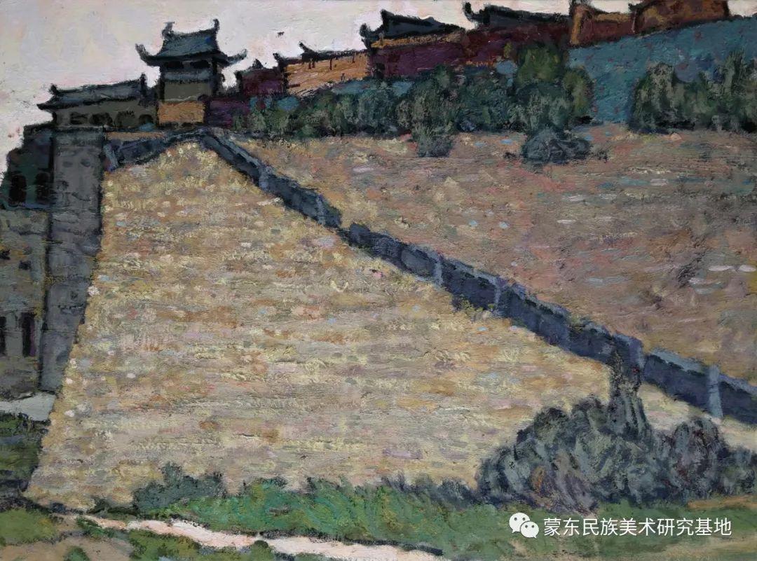 布和朝鲁油画作品——中国少数民族美术促进会,蒙东民族美术研究基地画家系列 第19张