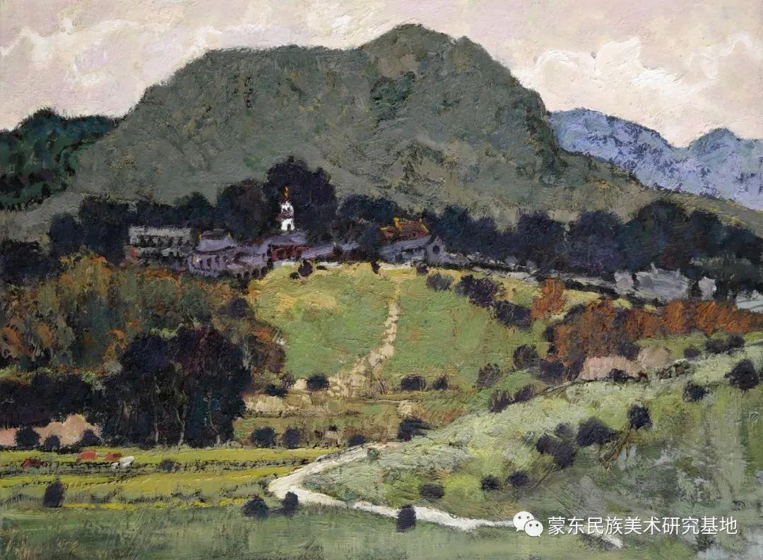 布和朝鲁油画作品——中国少数民族美术促进会,蒙东民族美术研究基地画家系列 第20张