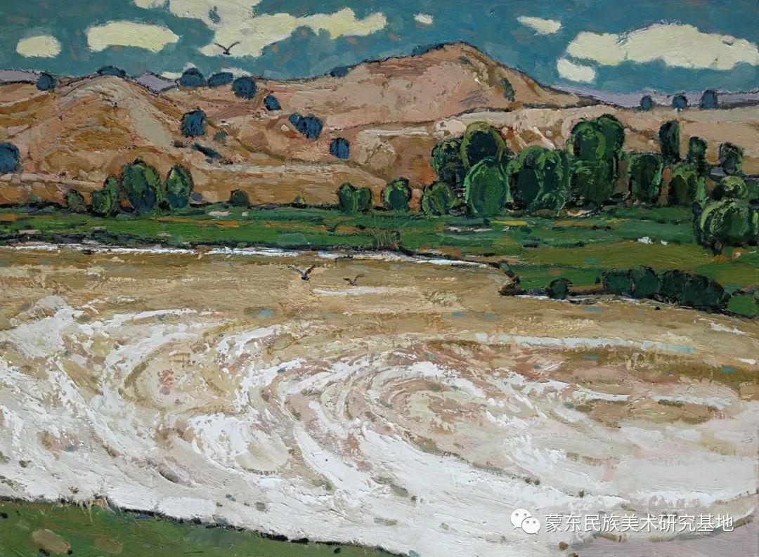 布和朝鲁油画作品——中国少数民族美术促进会,蒙东民族美术研究基地画家系列 第22张