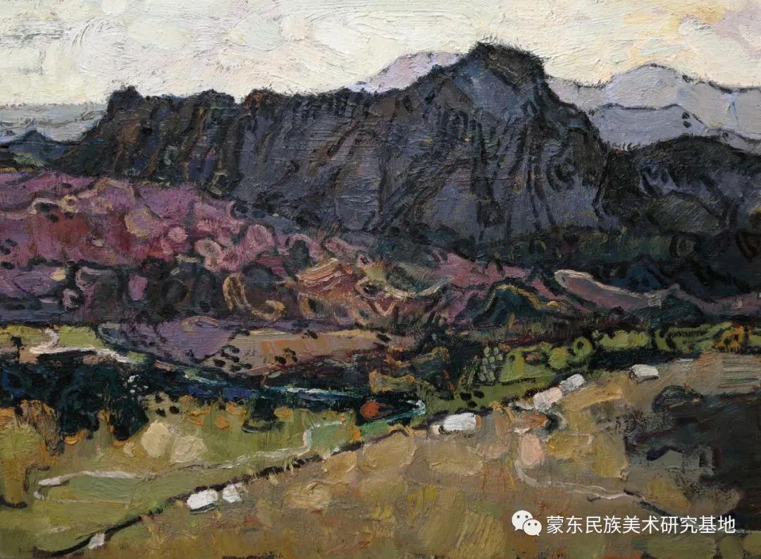布和朝鲁油画作品——中国少数民族美术促进会,蒙东民族美术研究基地画家系列 第21张