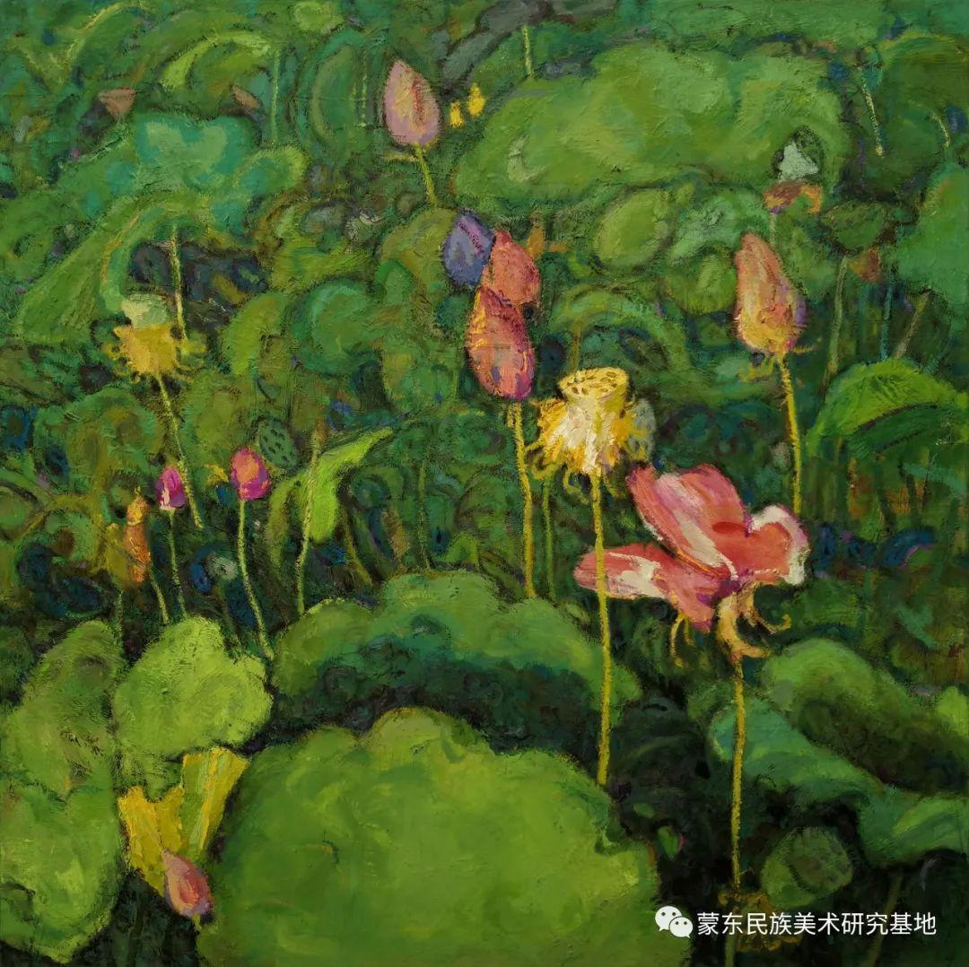 布和朝鲁油画作品——中国少数民族美术促进会,蒙东民族美术研究基地画家系列 第24张