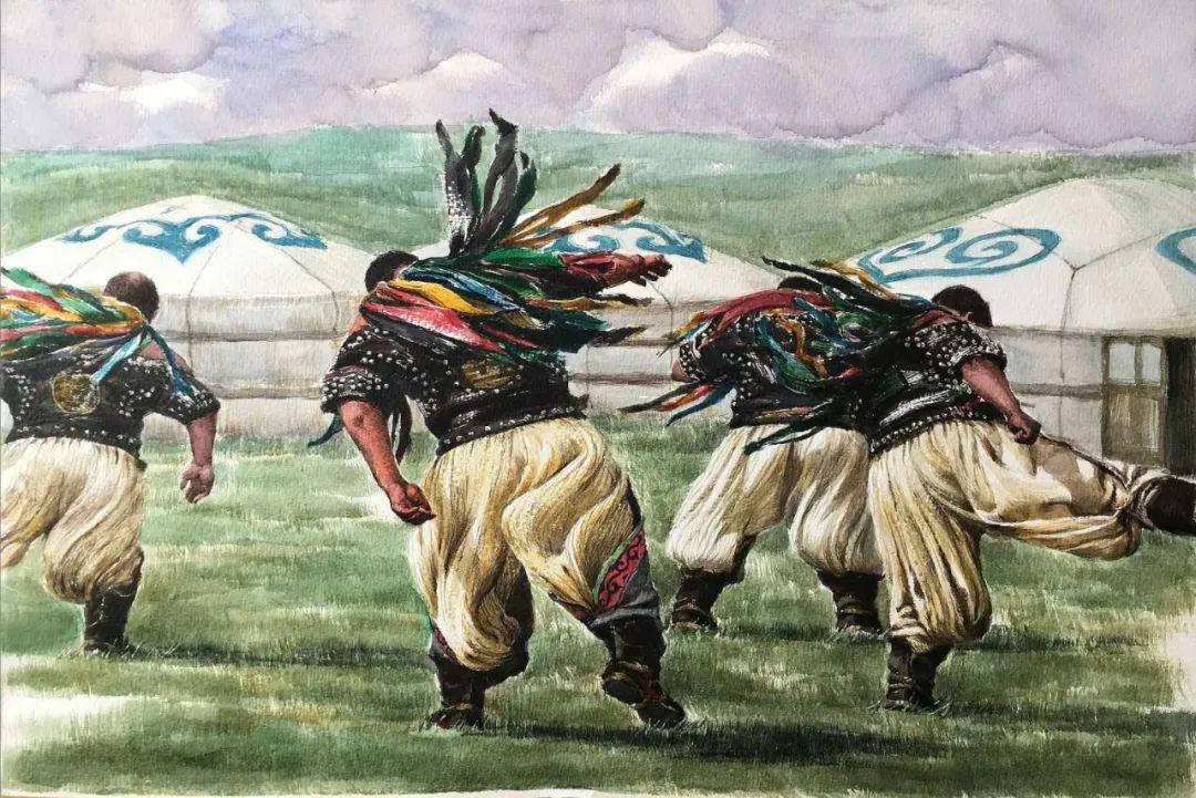 蒙古族搏克手连环画作品 第3张 蒙古族搏克手连环画作品 蒙古画廊