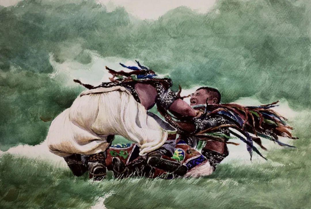 蒙古族搏克手连环画作品 第6张 蒙古族搏克手连环画作品 蒙古画廊